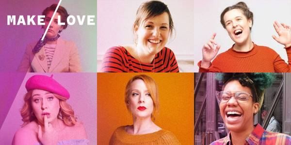 An image of cut together images of comedians. From left to right: Sarah Keyworth, Josie Long, Rosie Jones, Sara Barron, Helen Bauer, Kemah Bob