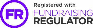 A purple and black fundraising regulator logo.